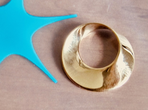 Mini Mobius in 18k Gold Plated Brass