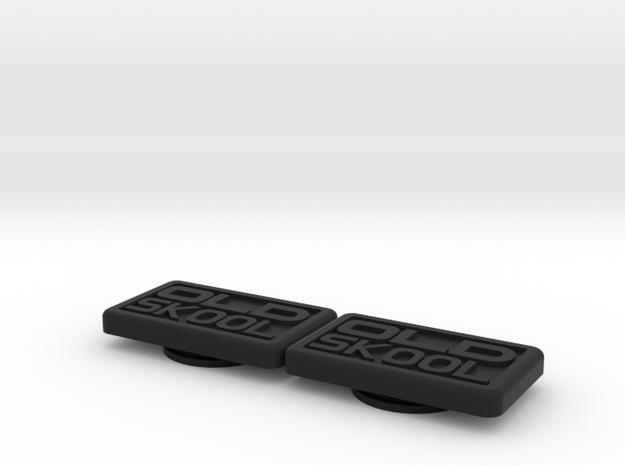 Badge for VW Golf 2 OLD SKOOL in Black Natural Versatile Plastic