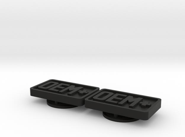 Badge for VW Golf 2 OEM+ in Black Natural Versatile Plastic