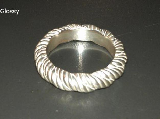 Torque Ring Size 23 3d printed in Silver Glossy