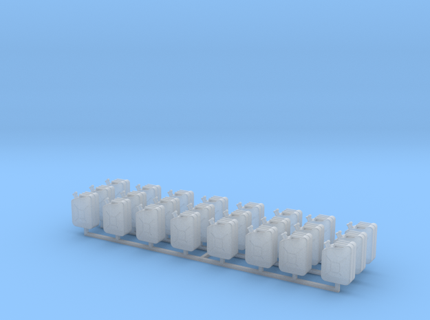 1:43 0 gauge 24 x jerry can Kanister Bund in Smooth Fine Detail Plastic