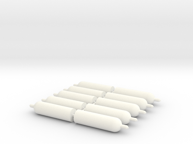 1:43 0 gauge propane gasbottle Propan Gasflaschen in White Processed Versatile Plastic