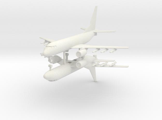 1/400 P-8 Poseidon (x2) in White Natural Versatile Plastic