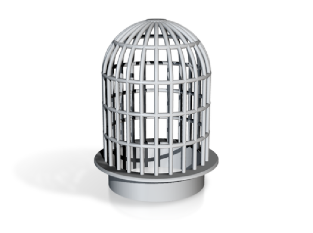 Vent Insert - 50mm hole cage in White Natural Versatile Plastic