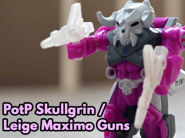Skullgrin / Liege Maximo Guns (3mm, 5mm) in Smooth Fine Detail Plastic: Small