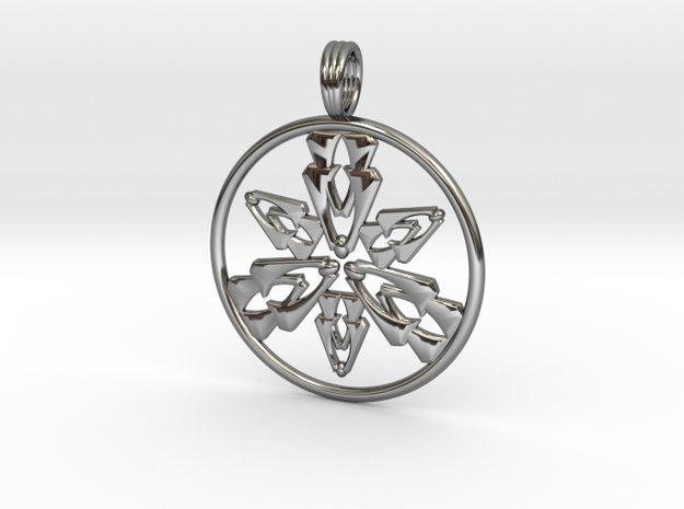DANCING SPIRIT in Fine Detail Polished Silver