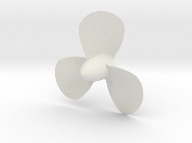 Titanic 3 Bladed Centre Propeller - Scale 1:87 in White Natural Versatile Plastic