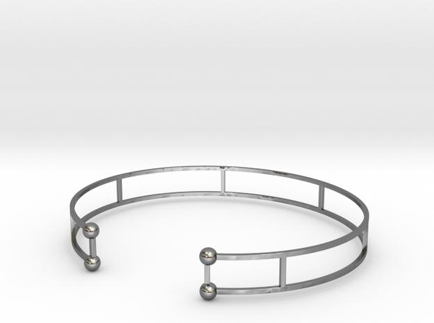Double Bracelet ( Jonc ) in Polished Silver