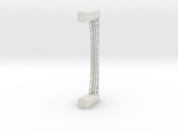 T Gauge 1.450 Iron Bridge Girder with stone piers in White Natural Versatile Plastic