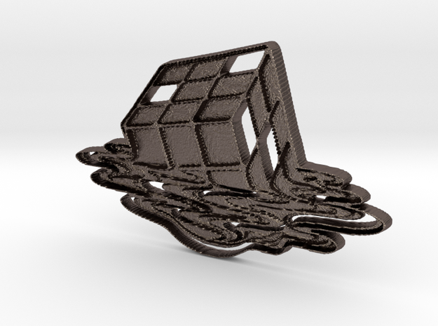 Rubix Cube Art Pendant in Stainless Steel