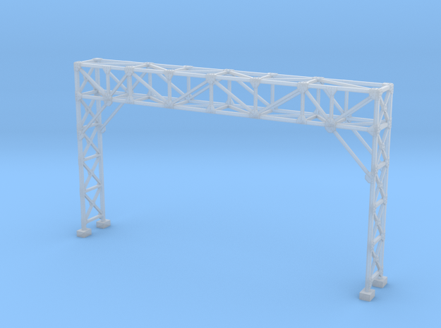 HO Scale Signal Gantry 3 tracks in Smooth Fine Detail Plastic