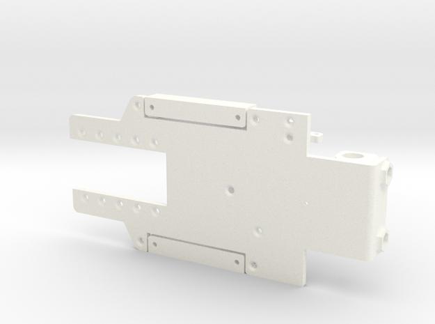 Chasis pequeño slot 1_24 in White Processed Versatile Plastic