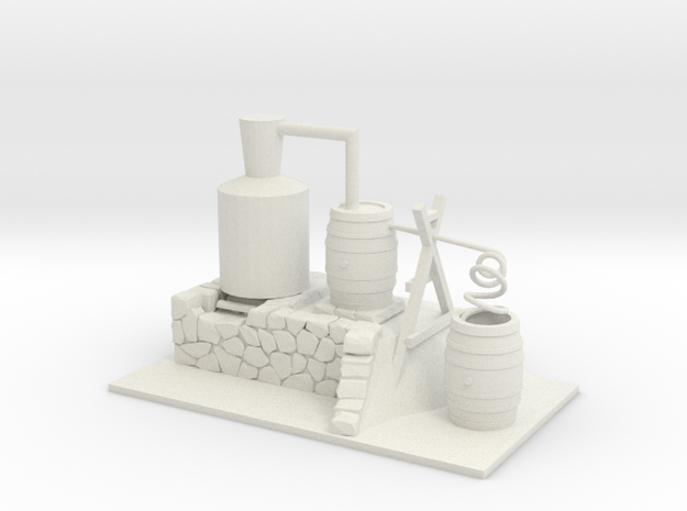 Moonshine Still - 'O' 48:1 Scale in White Natural Versatile Plastic