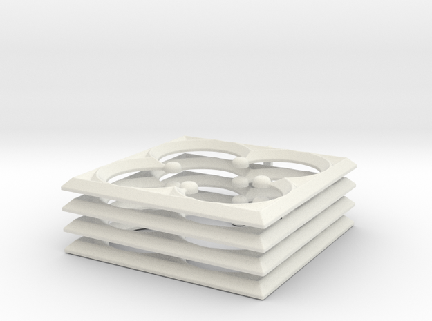 Quatrefoil For 28mm MDF War-game Buildings in White Natural Versatile Plastic