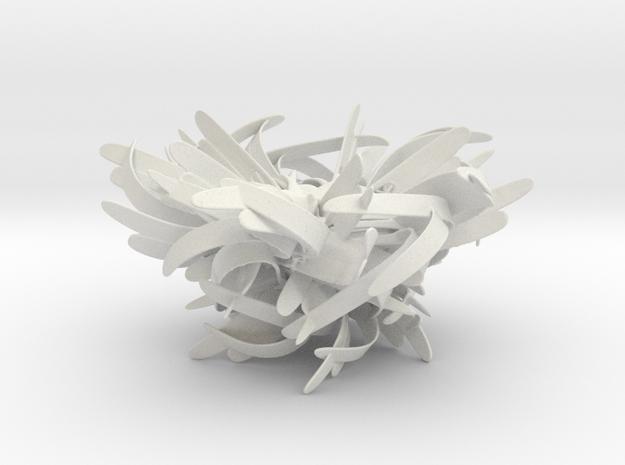 The Nest in White Natural Versatile Plastic: Medium