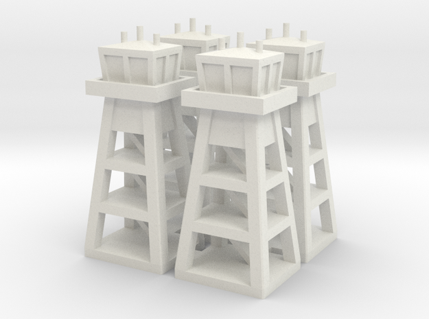 Air Base Tower x4 in White Natural Versatile Plastic