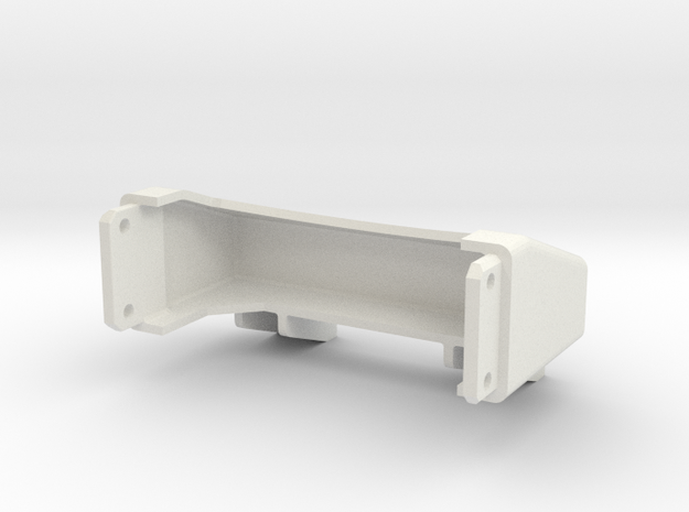 Tamiya Semi Truck Tapered Frame End - Type A in White Natural Versatile Plastic
