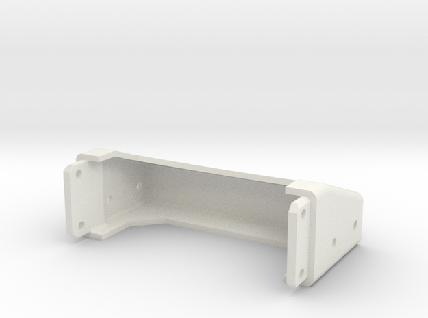 Tamiya Semi Truck Tapered Frame End - Type D in White Natural Versatile Plastic