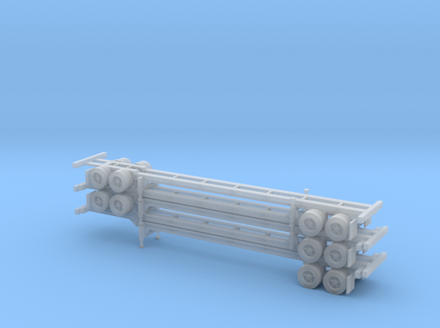 N 48' Container Chassis Stack #2 in Smooth Fine Detail Plastic