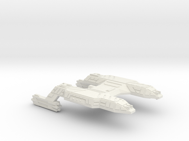 3788 Scale Lyran Refitted Tiger Heavy Cruiser CVN in White Strong & Flexible