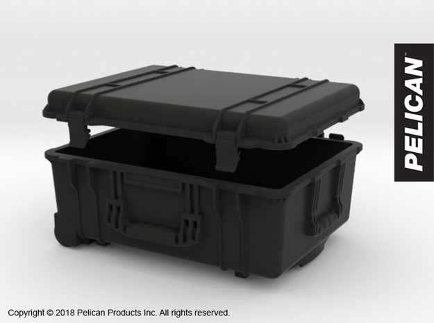 PC10001 Pelican 1560 large case 1:10th scale in Black Natural Versatile Plastic