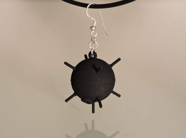 Sea Mine Earrings in Polished Bronze Steel