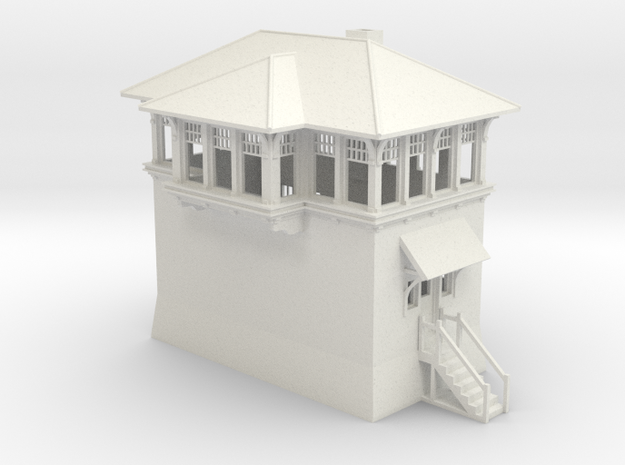 North Phil Tower HO scale in White Natural Versatile Plastic