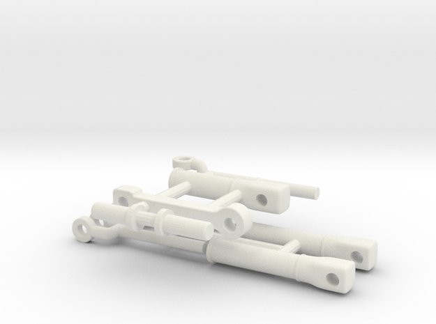 1/64 Replacement Cylinders- Small frame short reac in White Natural Versatile Plastic