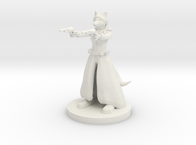Kitsune Gunslinger Two Pistols in White Natural Versatile Plastic