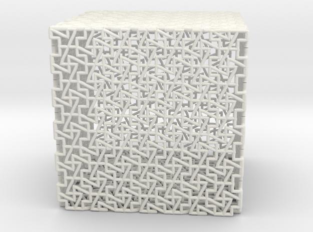 cube p in White Natural Versatile Plastic