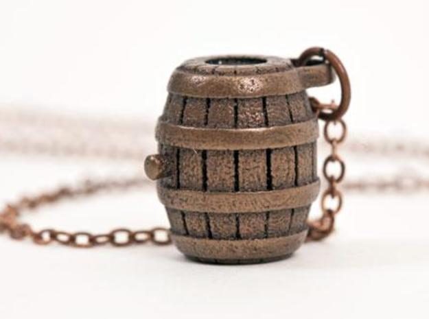 Barrel Necklace in Matte Bronze Steel