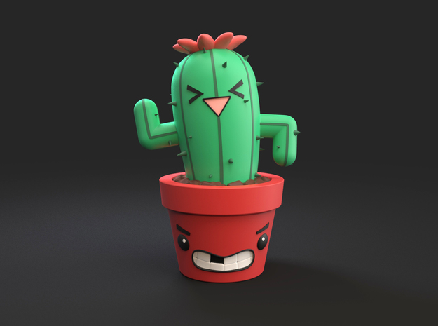 Cactus Desk Friend in Full Color Sandstone