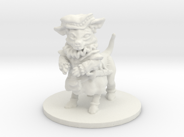 Civil Chihuahua (small canitaur) in White Natural Versatile Plastic