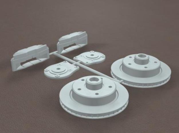 1/8 Generic Rear Disk Brake Kit in White Strong & Flexible