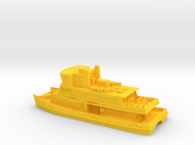 Sydney Ferry (as 1 Piece model) in Yellow Processed Versatile Plastic