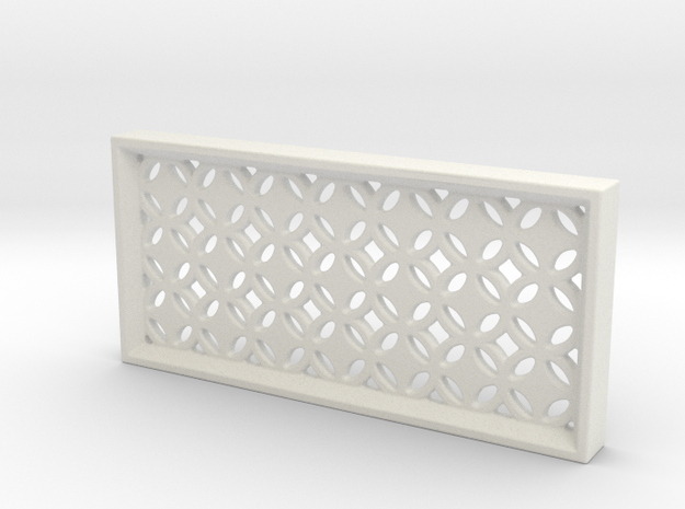 Geometric Pattern Wall Panel in White Natural Versatile Plastic