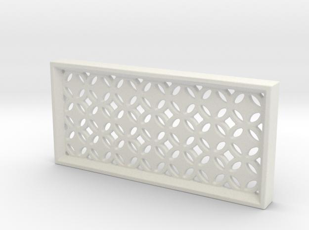 Geometric Pattern Wall Panel in White Natural Versatile Plastic