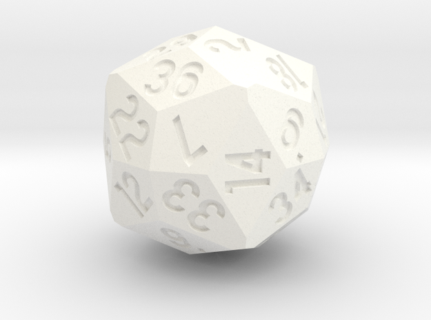 d36 Old Version in White Processed Versatile Plastic