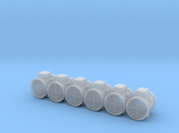"""1/64 28"""" Axial Fan Without Transition Set 6 in Smooth Fine Detail Plastic"""