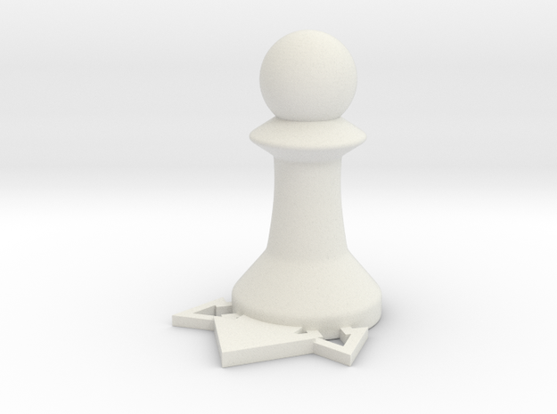 Instructional Chess Set - Pawn in White Natural Versatile Plastic: Small