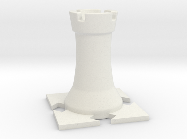 Instructional Chess Set - Rook in White Natural Versatile Plastic: Small