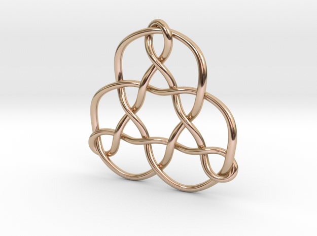 3p3dkn Pendant in 14k Rose Gold Plated Brass