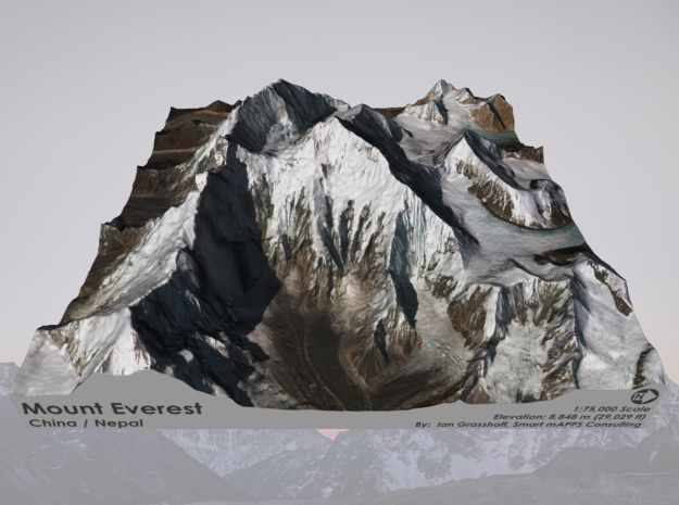 "Mount Everest: 9""x9"" in Full Color Sandstone"