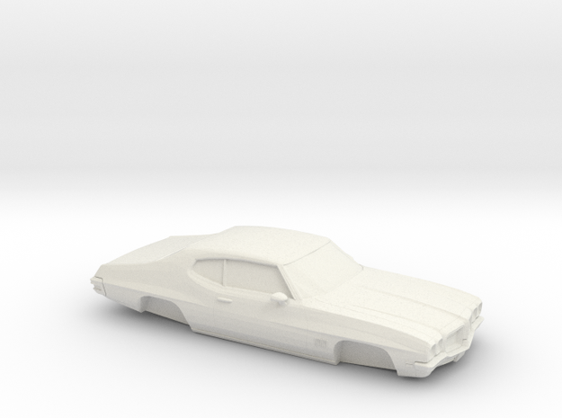 1/32 1968-72 Pontiac LeMans Shell in White Natural Versatile Plastic