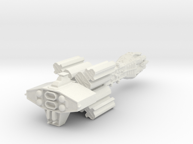 Earthforce Tantalus Assault Cruiser 122mm in White Strong & Flexible