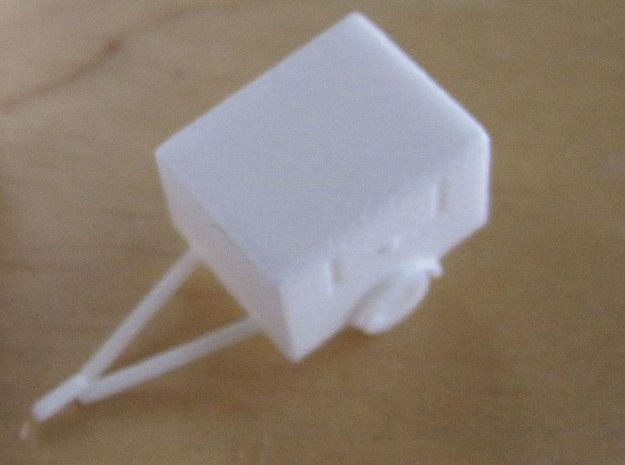 1/144  set of 2 fire brigade trailers in White Natural Versatile Plastic