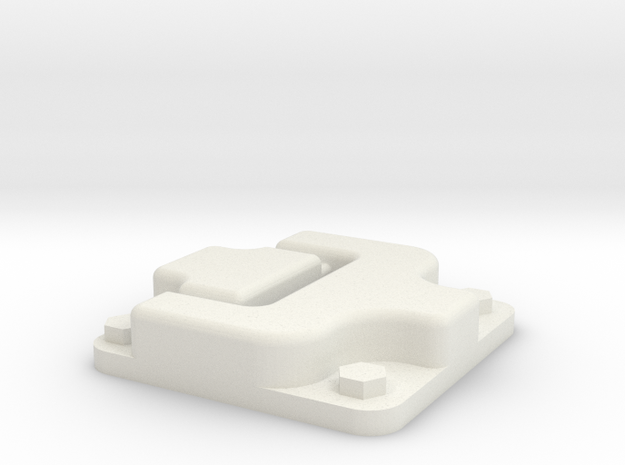 Door hinge for Traxxas TRX-4 body in White Natural Versatile Plastic