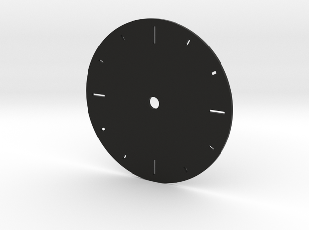 No numbers dial in Black Natural Versatile Plastic