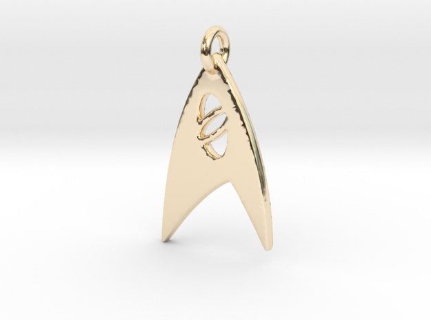 Star Trek - Starfleet Science (Pendant) in 14k Gold Plated Brass