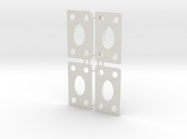 KICK-UP SHIMS 2.5 5.0 7.5 10.0 in White Natural Versatile Plastic